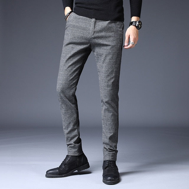 2020 Stretch Plaid Casual Pants Men Spring summer High Quality - Any.shopping