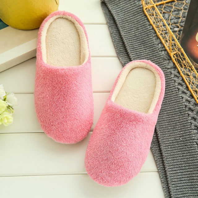 Slippers Women 2019 Indoor House plush Soft Cute Cotton Slippers