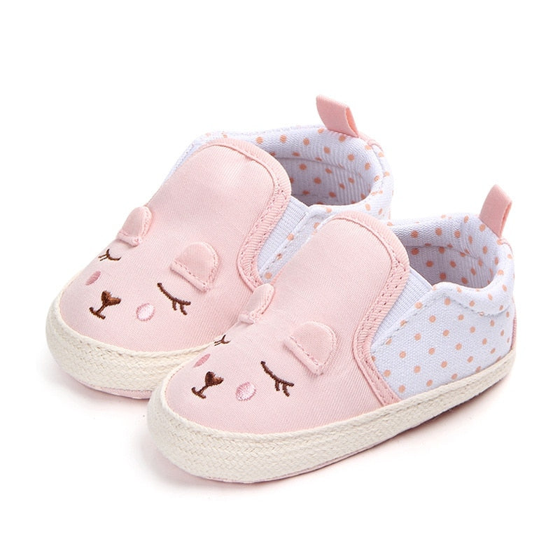 Baby Girls Shoes Animal Pattern Baby Shoes Anti-slip Toddler Crib First