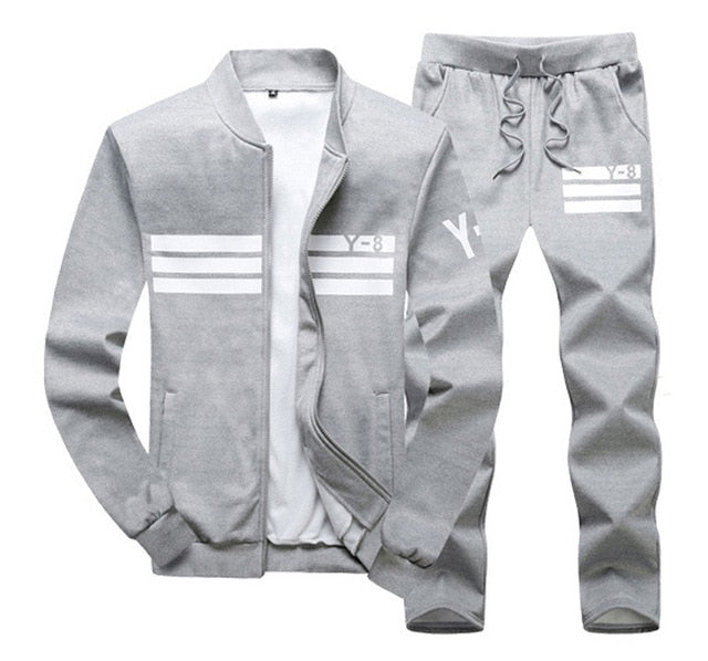 plus size M~8XL 9XL Men's Sportswear Sets Casual Tracksuit Male 2