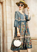The New Street style cotton embroidery Loose Autumn dress 2019