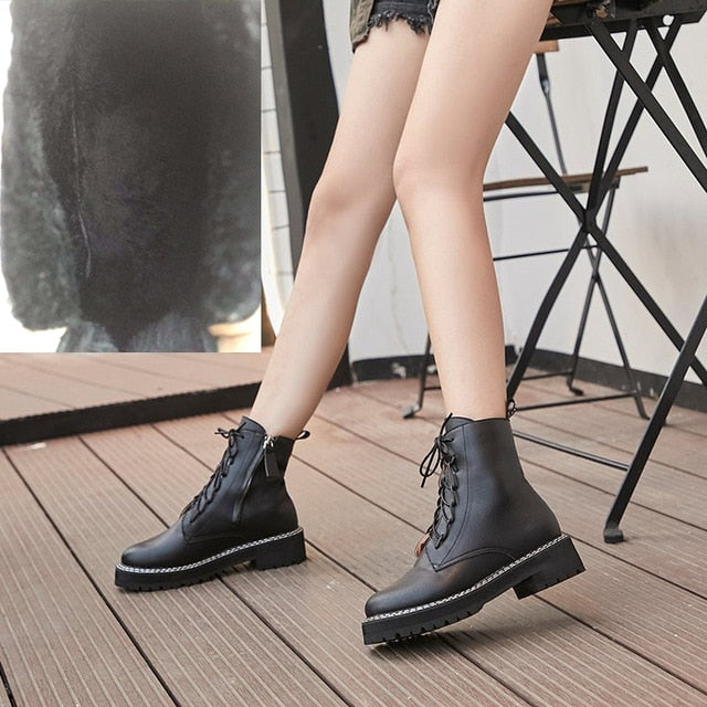 AIYUQI Martin Boots Female 2020 Autumn New Genuine Leather