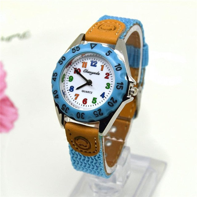 Cute Boys Girls Colorful Quartz Watch for Kids