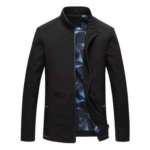 Cigna Pure Color Middle-aged Mens Long-sleeved Jackets Business
