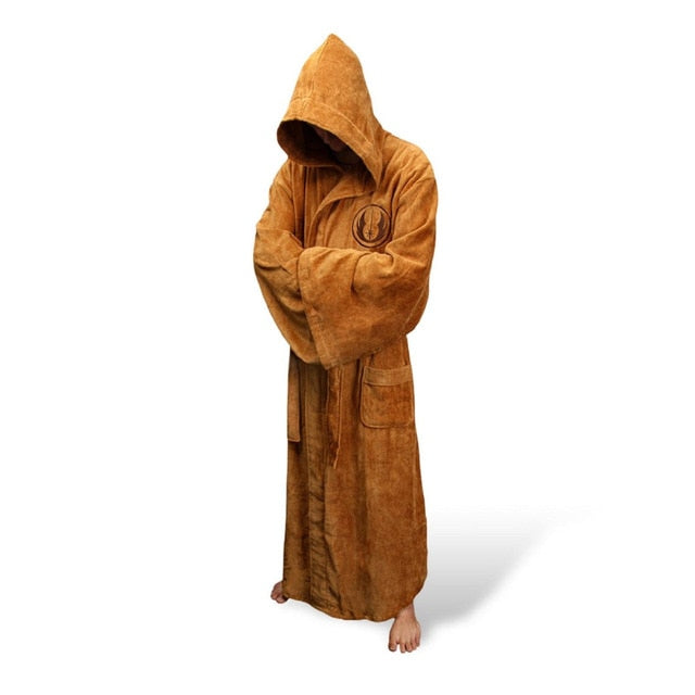 ale Flannel Robe Male With Hooded Thick Star Wars Dressing Gown