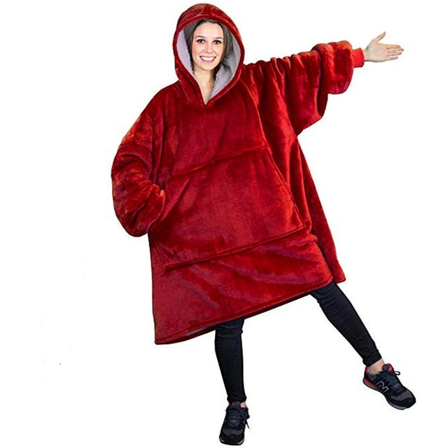 or Winter Thick Comfy Women Oversized Cozy Wearable Hooded