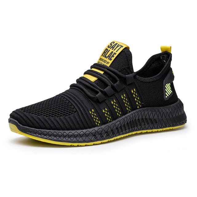New Spring Breathable Leather Sneakers for Men Running Shoes