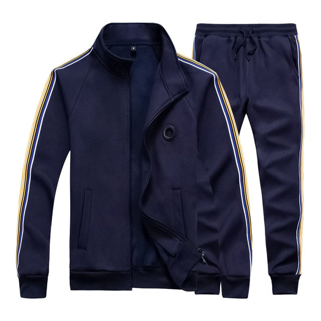 Men's Sportswear Casual Spring Tracksuit Men Two Pieces Sets Stand - Any.shopping