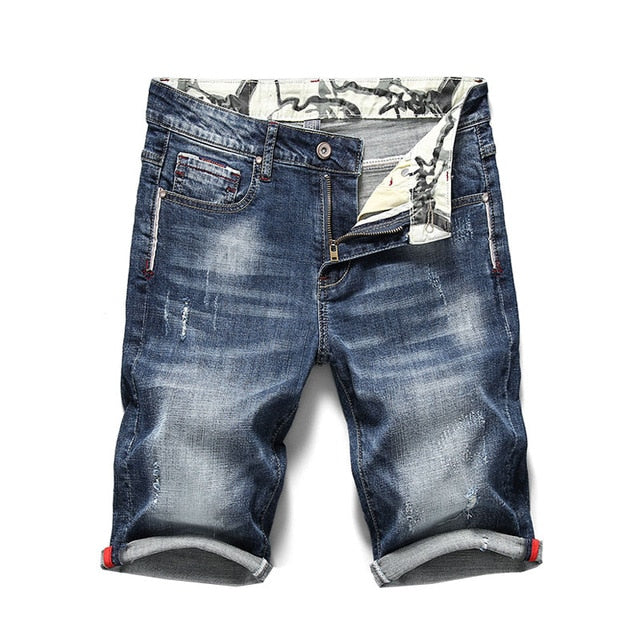 KSTUN 2020 Summer New Men's Stretch Short Jeans Fashion Casual