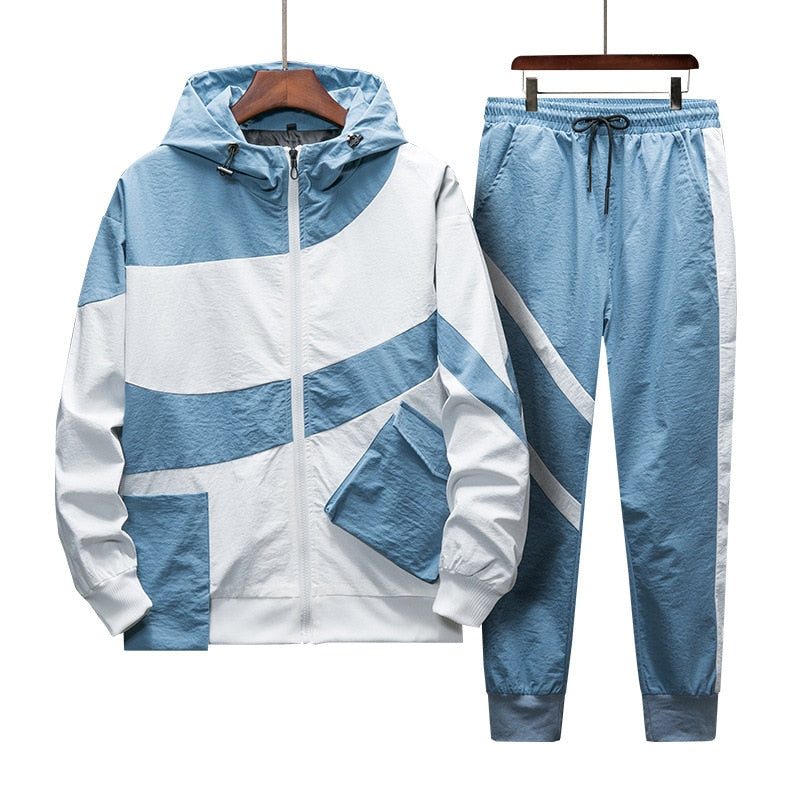 Tracksuit Set Men Spring Autumn Sporting Suit Hooded - Any.shopping