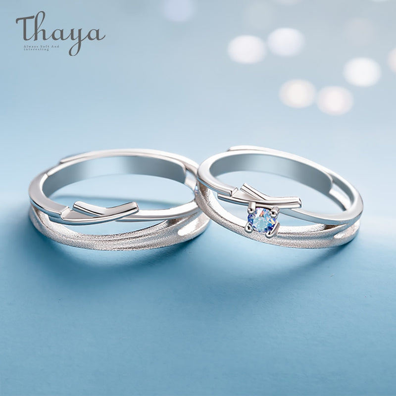 Thaya Hollow Out Zircon Wedding Design Rings