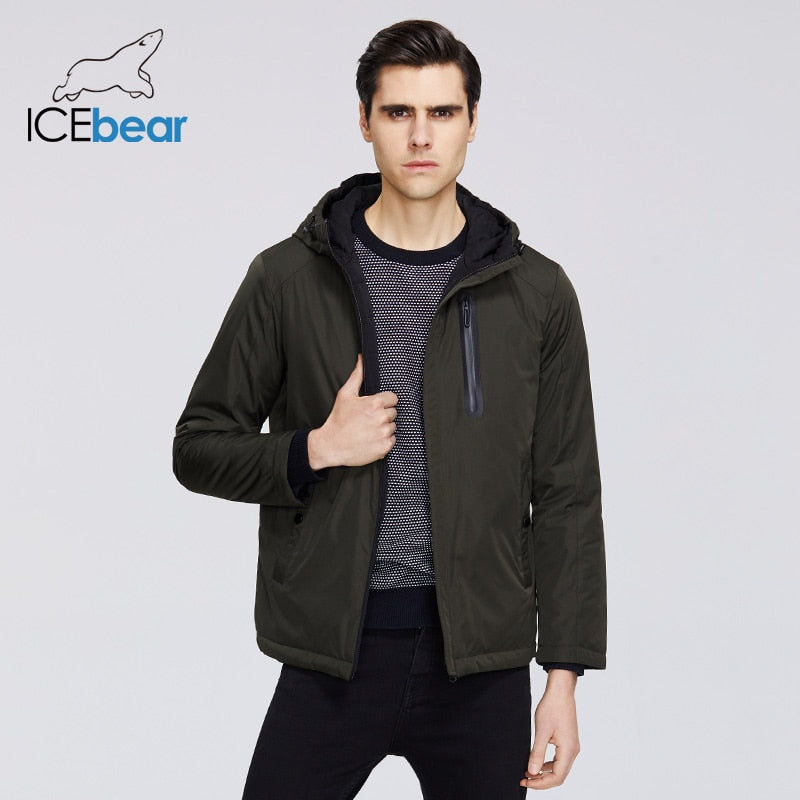 ICEbear 2020 Mens Spring Jacket Mens Hooded Jacket Men Zipper