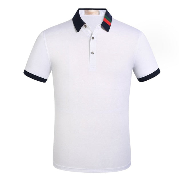 2019 Brand Quality Cotton Polo Shirt Men Solid Slim Fit Short Sleeve