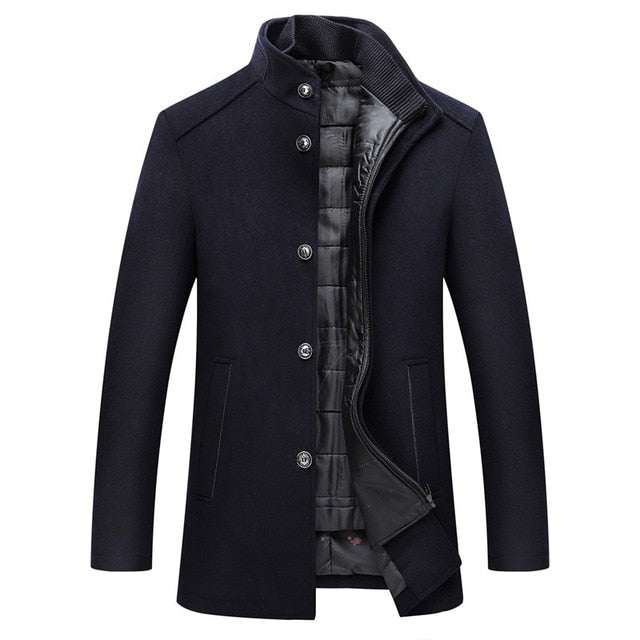 Mountainskin Winter Men Wool Jacket Slim Fit Thick Warm Coat - Any.shopping