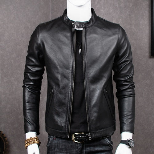 2020 Genuine Leather Jacket Men Sheepskin Coat for Men Plus Size