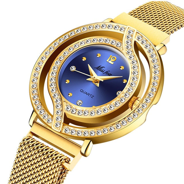 MISSFOX Magnetic Watch Women Luxury Brand Waterproof Diamond