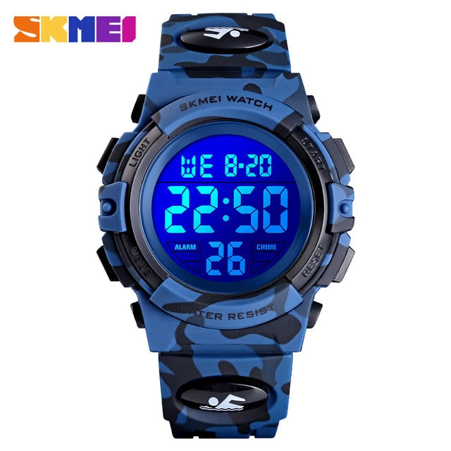 SKMEI Military Kids Sport Watches 50M Waterproof Electronic