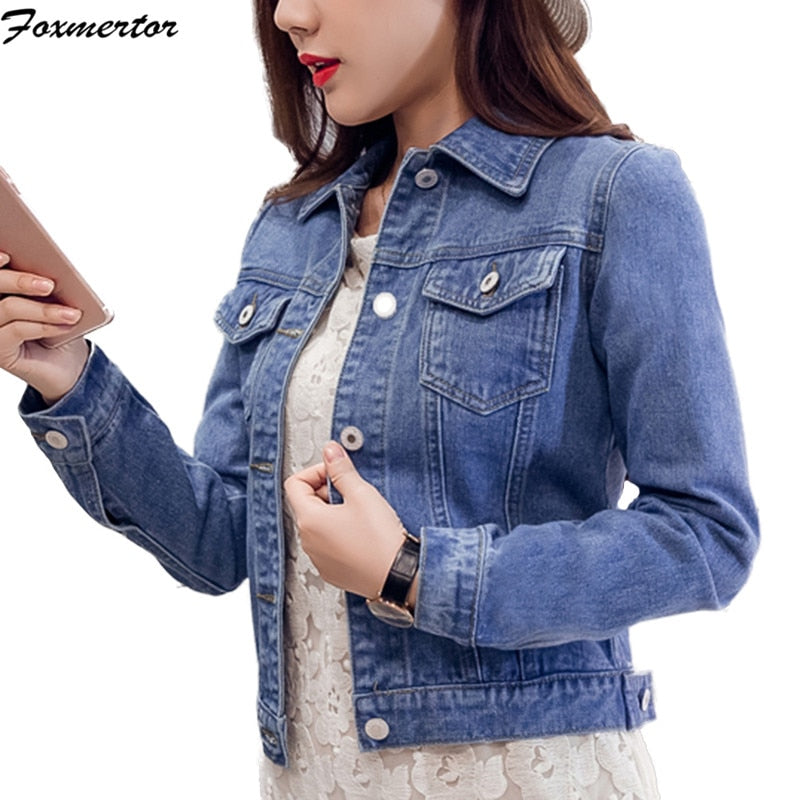 Denim Jackets Women's Blue Coat 2020 Autumn Denim Jackets for Women