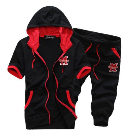 2020 Men Summer hoodies Tracksuit Men Set Short hoodies and Shor - Any.shopping