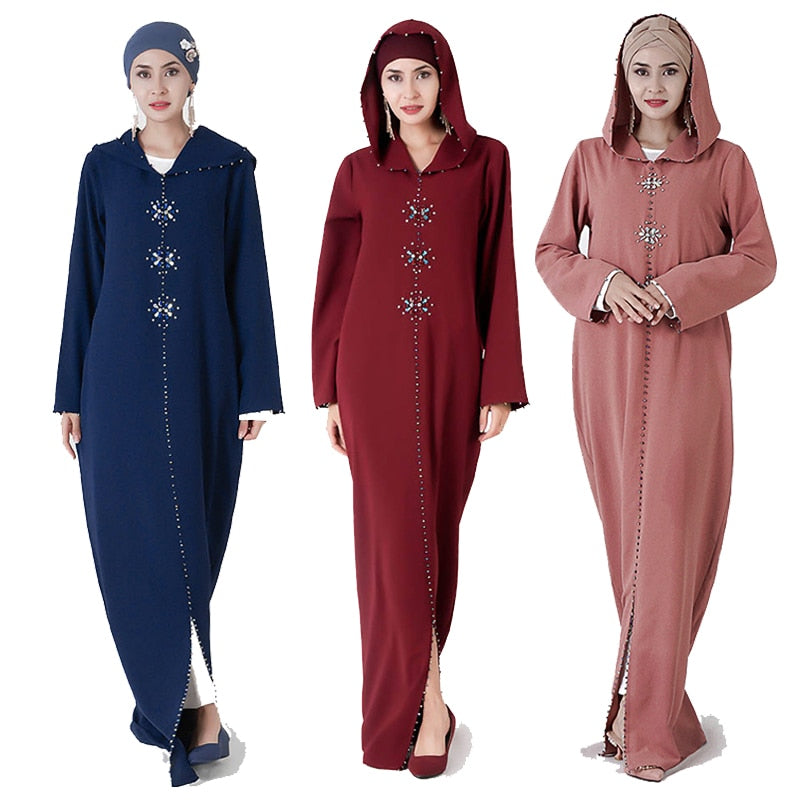 Kaftan Abaya Dubai Turkey Muslim Hijab Dress Women Abayas Caftan