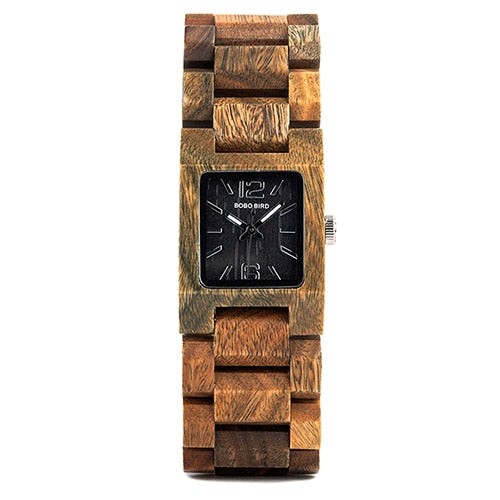 BOBO BIRD 25mm Small Women Watches Wooden Quartz Wrist Watch