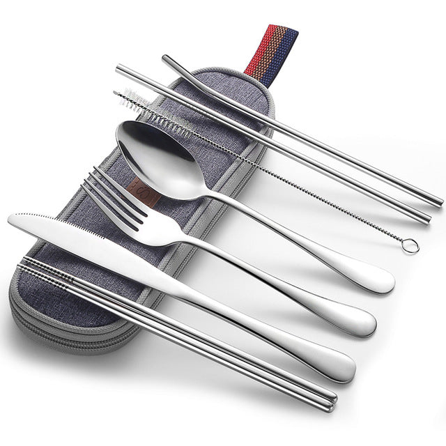 Dinnerware Set Camping Cutlery Set Travel Silverware