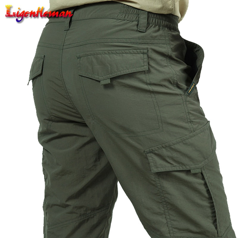 New Male lightweight Trousers Men Trousers Summer Quick Dry Casual