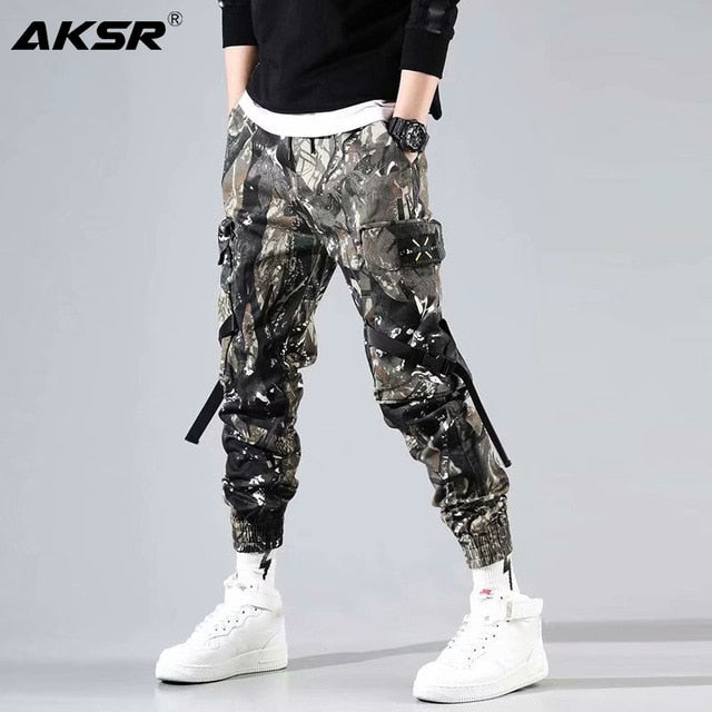 AKSR 2019 Men's Streetwear Pants Hip Hop Sweatpants Joggers