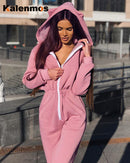 Rompers Sexy Jumpsuit Women Tracksuit Spring Fall Hooded Cat Ear