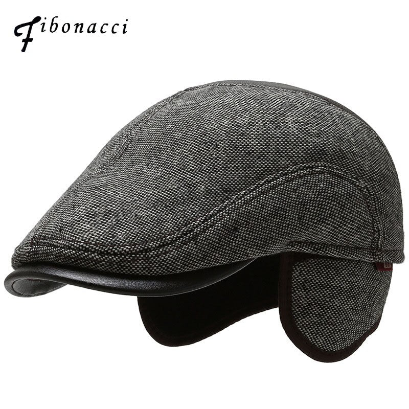 Fibonacci 2019 New Wool Nylon Men's Newsboy Caps Cabbie Ivy