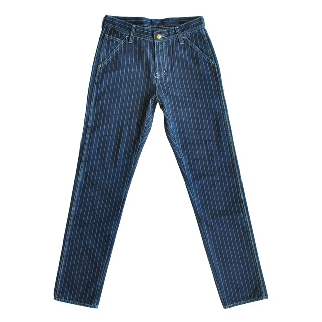 VINTAGE Denim Striped Pants Vintage Pants Denim Overalls Men Jeans