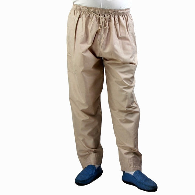 Men Abaya Arab Muslim Islamic Trousers Arabic Ramadan Pants Saudi