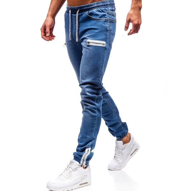 3 Styles Men Stretchy Skinny Biker Slim Fit Denim Men Multi-pocket