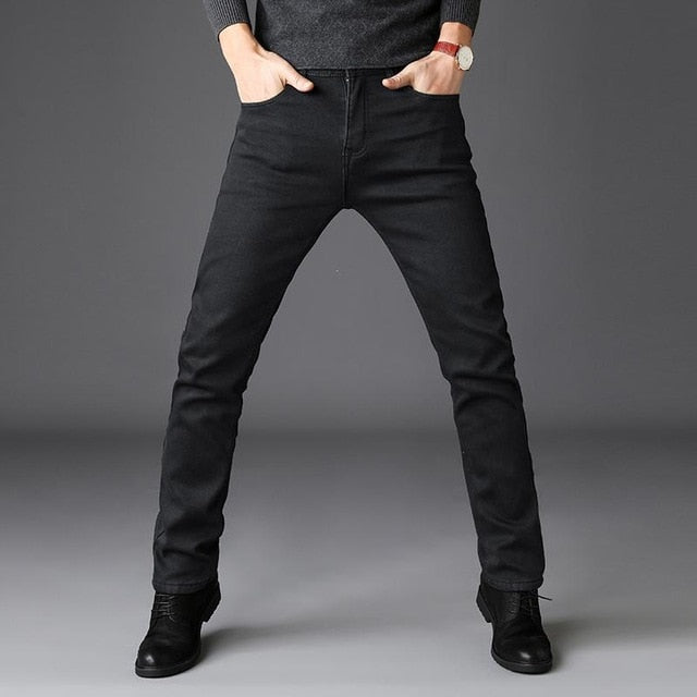 Brands Jeans Trousers Men Clothes 2018 New Black Elasticity Skinny