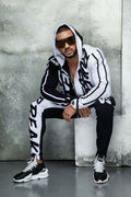 ZOGAA Mens Tracksuit Autumn Casual Men Outfit Letter Print Hooded - Any.shopping