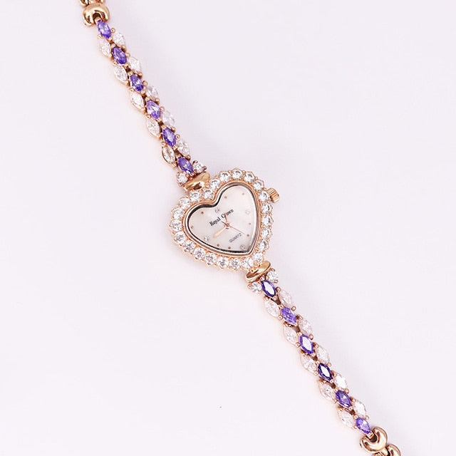 Heart Shell Lady Women's Watch Royal Crown Hours