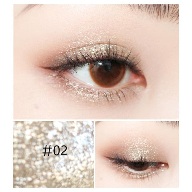 5 Color Silver White Eye Shadow Fine Pearlescent Eyeshadow