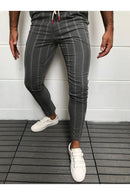 Men's Formal Trousers Fashion Business Wide Striped Noble Dress Lace