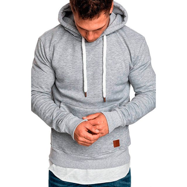 CHRLEISURE Hoodies Sweatshirts Men Solid Color Hip Hop Hoodies - Any.shopping