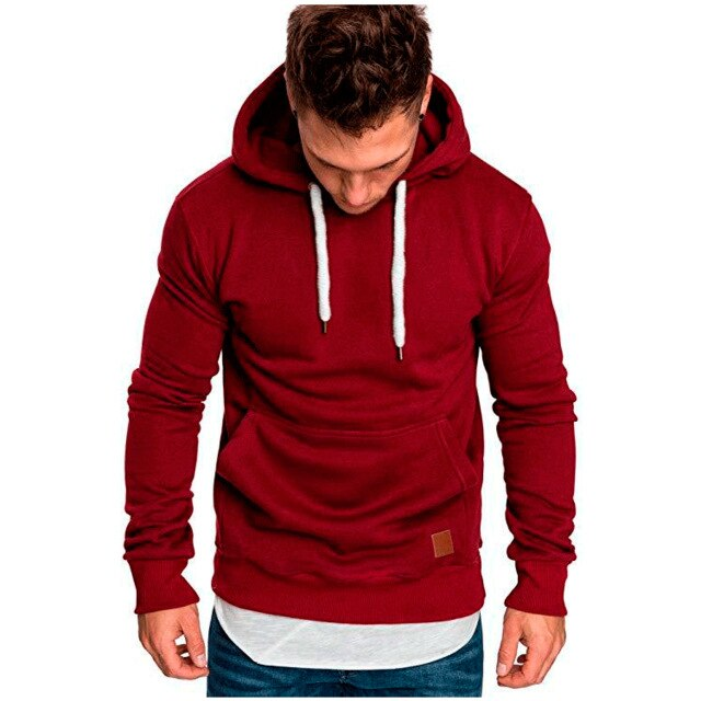 CHRLEISURE Hoodies Sweatshirts Men Solid Color Hip Hop Hoodies