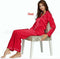 Women Lady Silk Satin Pajamas Set - Any.shopping