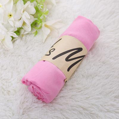 Monochrome Candy Colored Silk New Cotton Linen Scarf Solid Color