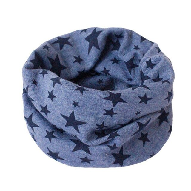 Cotton Baby Scarf Baby Bibs Autumn Winter Boys Girls Scarf O Ring