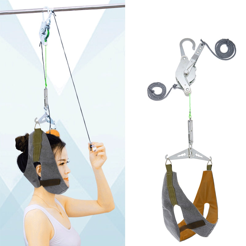 Brace Home Cervical Traction Kit Neck Stretch Correction Hanging
