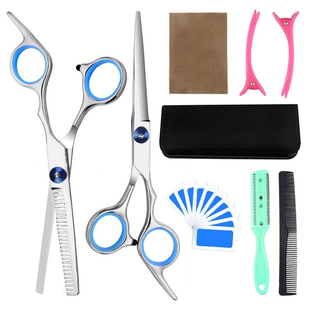 9PCS Professional Hairdressing Scissors Kit Hair Cutting Thinning