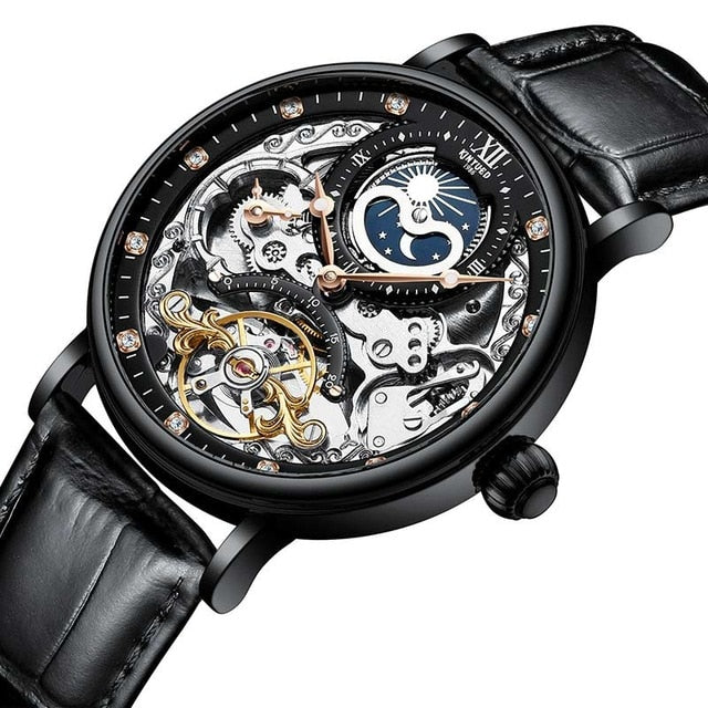 Skeleton Watches Mechanical Automatic Watch for Men