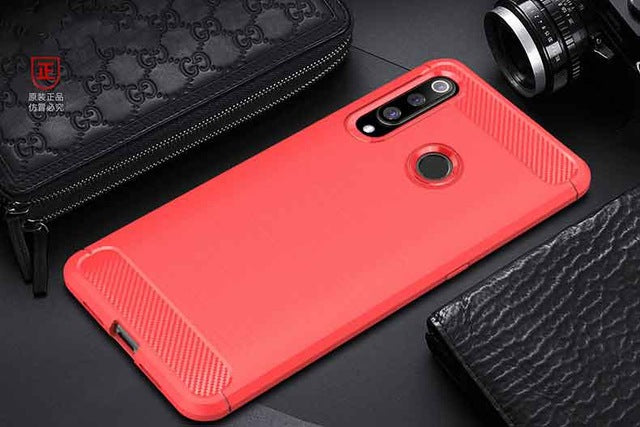 For Huawei P30 Lite Case Carbon fiber Cover Shockproof Phone Case