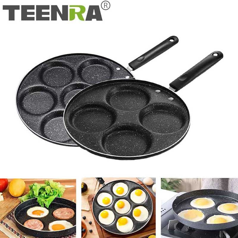 Hole Frying Pot Thickened Omelet Pan Non-stick Egg