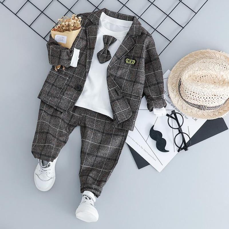 Baby Boy Fashion Formal Clothing Set Kid Tie Suits High Quality
