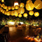 Solar Lantern String Lights Paper Lantern Solar Garland Light Outdoor